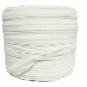 Rouleau Fermeture à glissière 4mm, 200 mètres - Coloris blanc crème - Mercerie