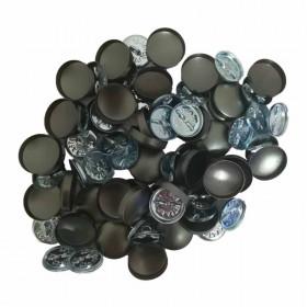 100 Boutons à recouvrir anneau 15mm - ASTOR P24 - Mercerie