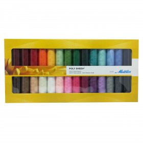 Kit de 28 Bobines de fils METTLER POLY SHEEN - Mercerie