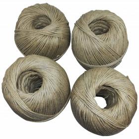 4 pelotes de 1kg de Corde à guinder 603 en lin - Fournitures tapissier