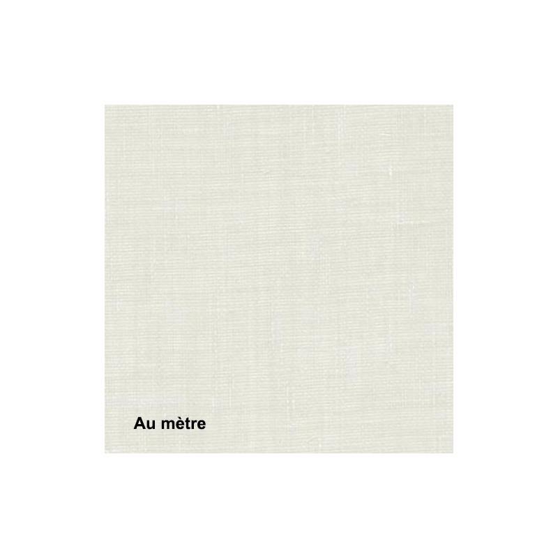 Voilage Polyester Non Feu Etel Blanc, le mètre - Tissus ameublement