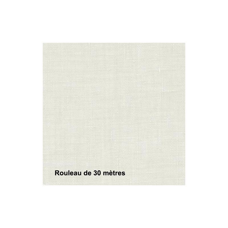 Voilage Polyester Non Feu Etel Blanc, les 30 mètres - Tissus ameublement
