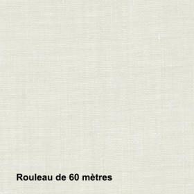 Voilage Polyester Non Feu Etel Blanc, les 60 mètres - Tissus ameublement