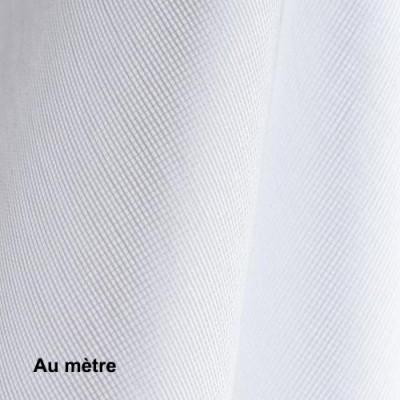 Voilage Polyester Non Feu M102 Blanc, le mètre - Tissus ameublement