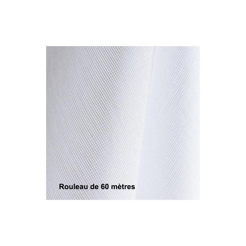 Voilage Polyester Non Feu M102 Blanc, les 60 mètres - Tissus ameublement