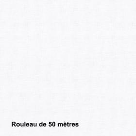 Tissu Sat120 Non Feu M1 120g/m2 Blanc, pièce de 50M - Habillage de la fenêtre