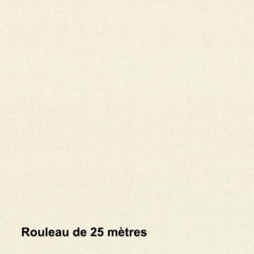 Tissu Sat120 Non Feu M1 120g/m2 Crème, pièce de 25m - Habillage de la fenêtre
