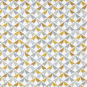 Tissu Scion Collection Noukku - Lintu Dandelion/Butterscotch/Pebble - 137 cm