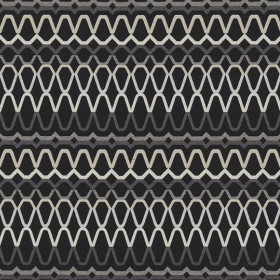 Tissu Scion Collection Spirit Fabrics - Ada Ebony/Slate/Silver - 140 cm