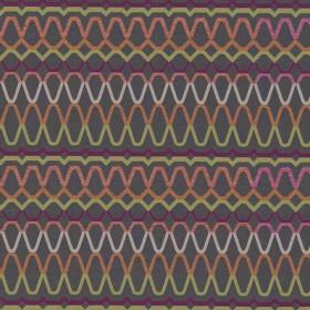 Tissu Scion Collection Spirit Fabrics - Ada Slate/Spice/Pear - 140 cm