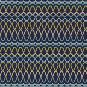Tissu Scion Collection Spirit Fabrics - Ada Midnight/Lime/Turquoise - 140 cm
