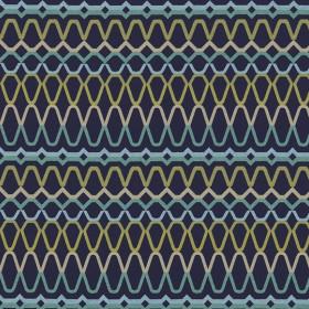 Tissu Scion Collection Spirit Fabrics - Ada Midnight/Lime/Turquoise - 140 cm