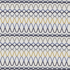 Tissu Scion Collection Spirit Fabrics - Ada Shale/Denim/Ochre - 140 cm