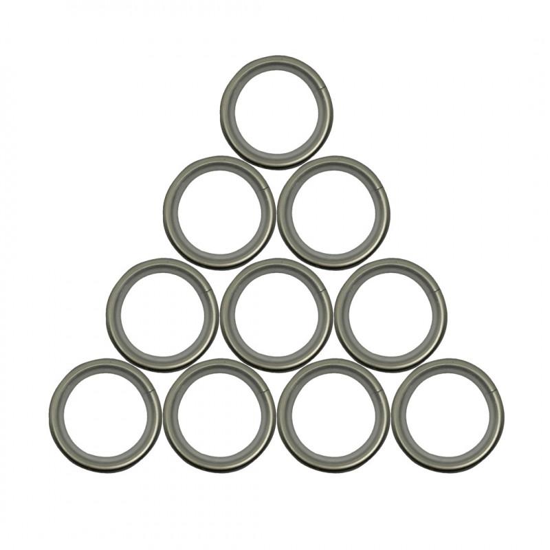 /ø 28 mm-blanc-lot de 10 Anneaux pour tringle /à rideaux bois