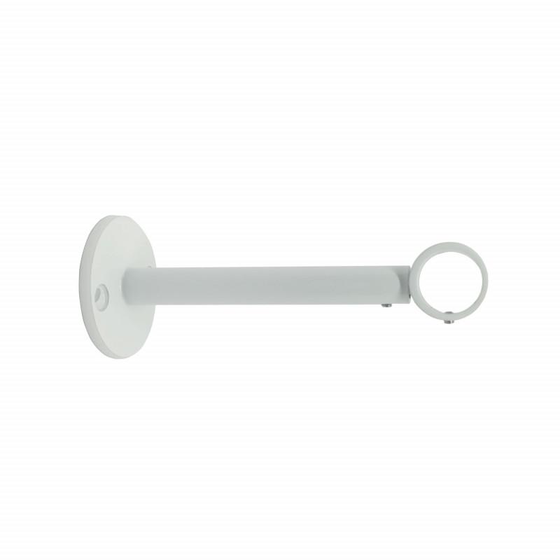 order official supplier get new Support extensible Blanc 125-185 mm pour tringle à rideaux Ø19 mm