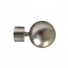 Embout Boule Alu brossé pour tringle à rideaux Ø20 mm, à l'unité - Habillage de la fenêtre