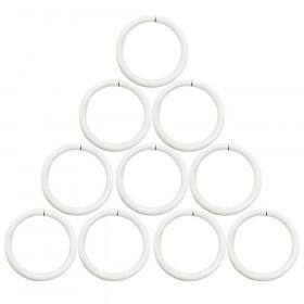 Anneaux Blanc Ø30 mm pour tringle à rideaux, par 10 - Habillage de la fenêtre