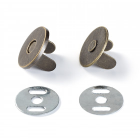 Fermoir magnétique Laiton antique, Ø19 mm - Mercerie
