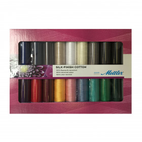 Kit de 18 Bobines de fils METTLER SILK-FINISH COTTON - Mercerie