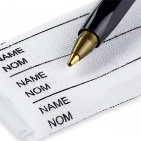 24 Étiquettes à marquer le linge avec crayon marqueur noir - Mercerie
