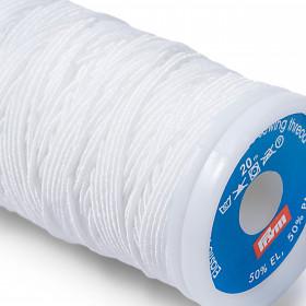 Fil à coudre élastique blanc 0.5 mm - Mercerie