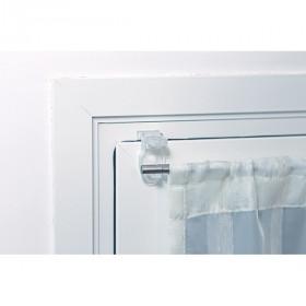 Lot de 2 supports de tringle Ø10 transparents sans perçage - Habillage de la fenêtre