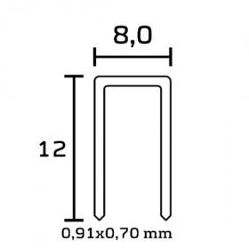 Agrafe 98/12 NK - Boite de 12800 - Fournitures tapissier
