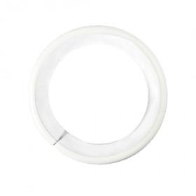 Anneau Blanc Ø30 mm avec bague de silence pour tringle à rideau, à l'unité - Habillage de la fenêtre
