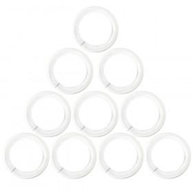 Anneaux Blanc Ø30 mm avec bague de silence pour tringle à rideaux, par 10 - Habillage de la fenêtre