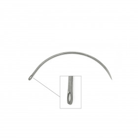 Carrelet courbe 65mm - Chas latéral - Outils tapissier