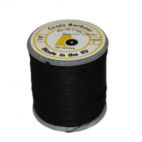 Fil de lin 532 Noir 25/3, bobine de 50g - Mercerie