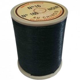 """Fil de lin 16 noir 180 \\""""Au Chinois\\"""" - bobine de 160 mètres - Mercerie"""