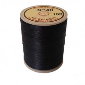 """Fil de lin 40 Noir 180 \\""""Au Chinois\\"""" - bobine de 350 mètres - Mercerie"""