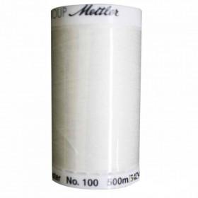 Fil universel Blanc METTLER SERALON, bobine de 500 M - Mercerie