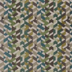 Tissu Camengo - Collection Amazone - Guatemala Vert - 140cm