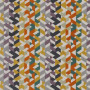 Tissu Camengo - Collection Amazone - Guatemala Orange - 140cm