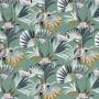 Tissu Camengo - Collection Amazone - Quetzal velvet Bleu - 136cm