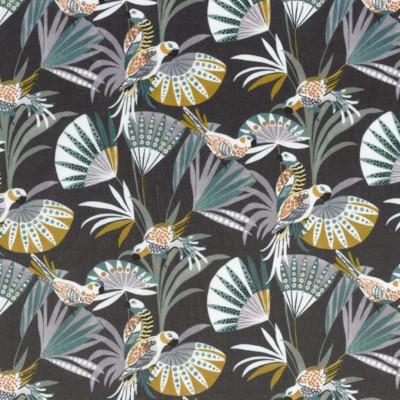 Tissu Camengo - Collection Amazone - Quetzal velvet Parme - 136cm