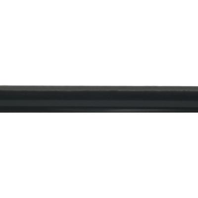 Barre de rideau extensible Noire 160-300 cm Ø19 mm