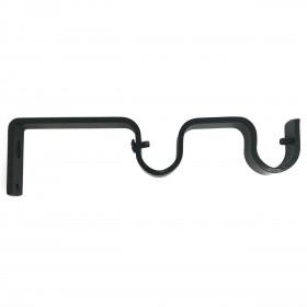 Support double ouvert Noir 95/155 mm pour tringle à rideaux Ø19 mm, à l'unité - Habillage de la fenêtre