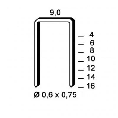 Agrafes Type V-08 ALSAFIX pour agrafeuse pneumatique - Par 10000
