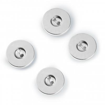 Lot 3 boutons magnétiques à coudre - Argenté