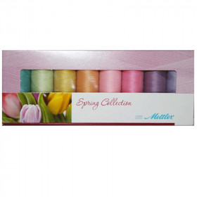 Kit de 8 Bobines de fils METTLER SERALON 200m - Spring Collection - Mercerie