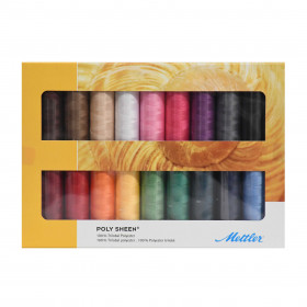 Kit de 18 Bobines de fils METTLER POLY SHEEN - Mercerie