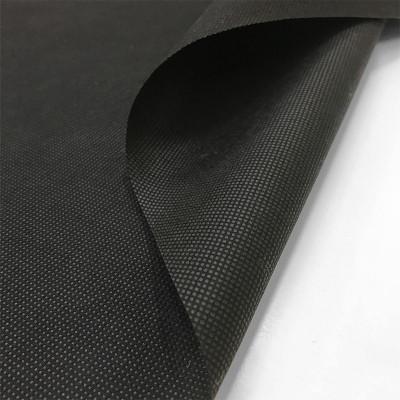 Jaconas non tissé noir 70 g/m² - largeur 90 cm, le mètre