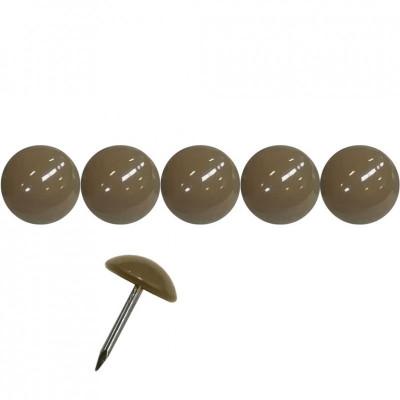 50 Clous tapissier Prestige Taupe Perle Fer 16 mm