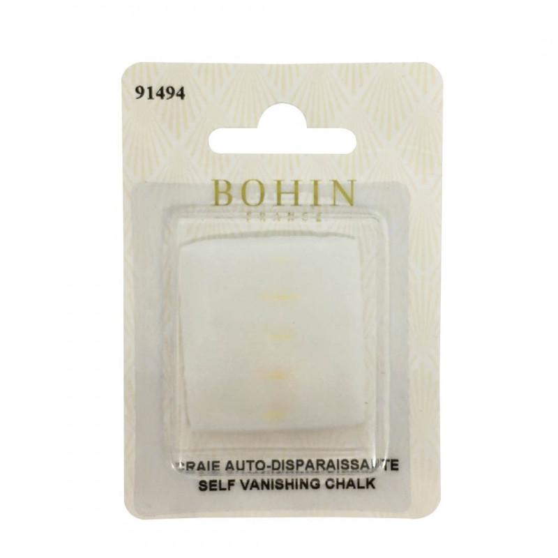 Craie auto-effaçable blanche Bohin - Mercerie