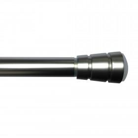 Tringle extensible autobloquante alu brossé 150-230 cm ø28 mm - Habillage de la fenêtre