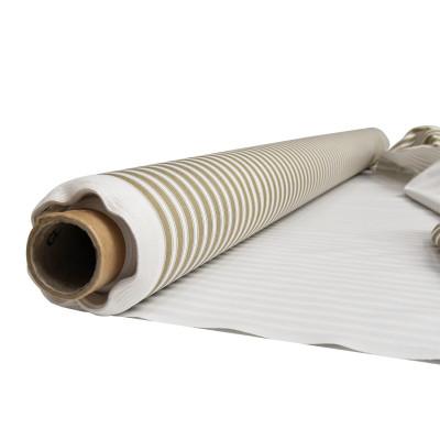 Cale anti-duvet 230gr/m² rayé blanc/kaki - Laize 1m60 - Rouleau de 20 mètres
