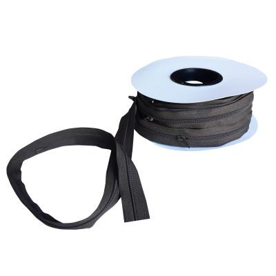 Fermeture à glissière mocca 5 mm, les 25 mètres